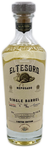 El Tesoro Old Town Tequila Limited Edition Single Barrel Reposado