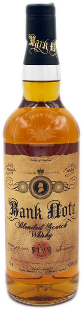 Bank Note Blended Scotch Whisky Aged 5 Years 750ml