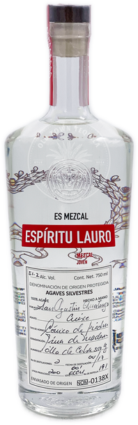 Espiritu Lauro Agaves Silvestres Cuixe Mezcal 750ml