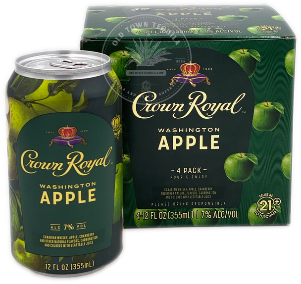 Crown Royal Washington Apple Whisky 4 Pack