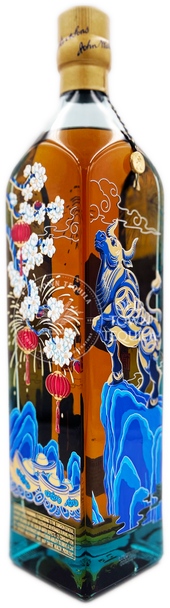 Johnnie Walker Blue Label Year of the Ox Limited Edition Scotch Whisky side view 2