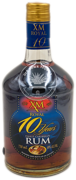 XM Royal 10 Years Finest Caribbean Rum 750ml