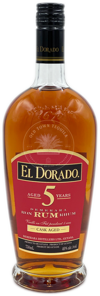 El Dorado Demerara Rum Cask Aged 5 Years 750ml