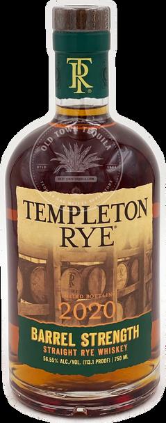Templeton Rye 2020 Barrel Strength Straight Rye Whiskey 750ml