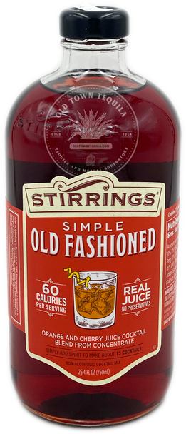 Stirrings Simple Old Fashioned Orange and Cherry Cocktail 750ml