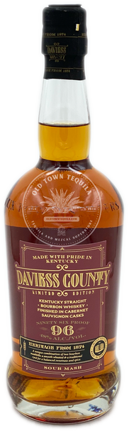 Daviess County Limited Edition Kentucky Straight Bourbon Whiskey Finished in Cabernet Sauvignon Casks