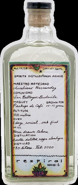 Rezpiral Series 5 Pechuga de Café Agave Spirit 750ml