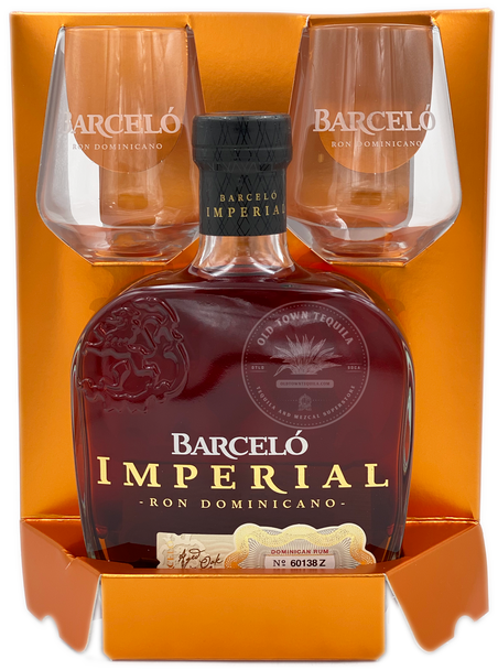 Barcelo Imperial Dominican Rum Gift Set with Glasses