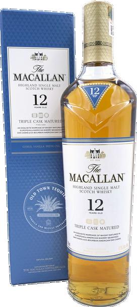 The Macallan 12yr Highland Single Malt Scotch Whisky Triple Cask Matured 750ml