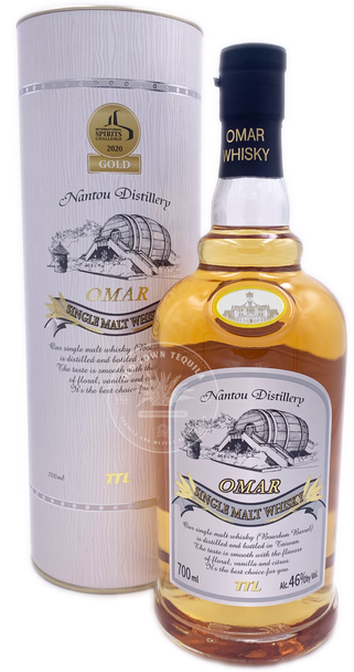 OMAR Bourbon Barrel Single Malt Whisky 750ml