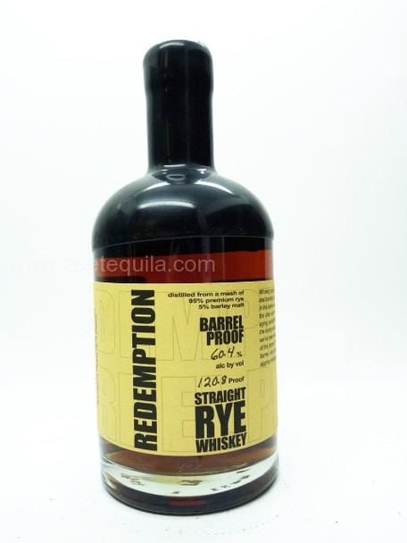 Redemption Barrel Proof Straight Rye Whiskey