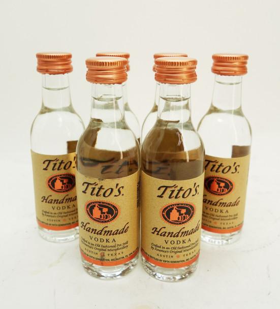 Tito's Vodka 50 ML. (6 Bottles)