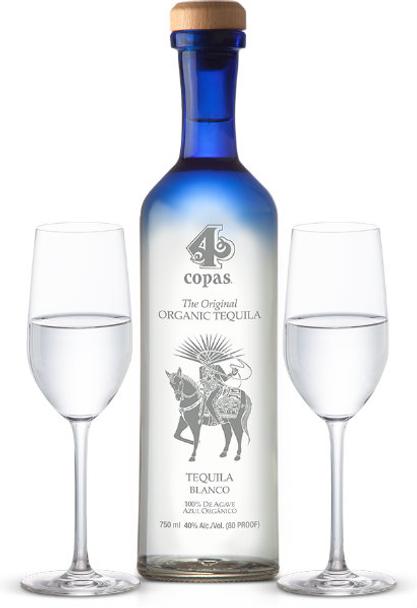 4 Copas Organic Blanco Tequila