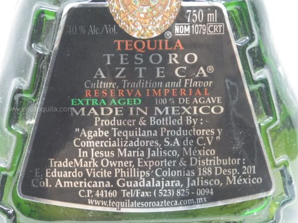 Tesoro Azteca Reserva Imperial Anejo 750ml