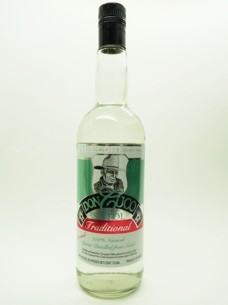 Don Cuco Sotol Traditional Artesanal Blanco