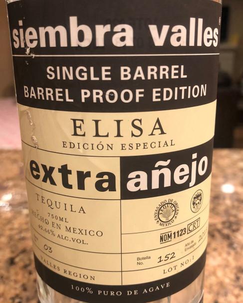 Siembra Valles Elisa Extra Anejo Tequila