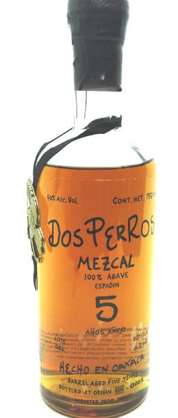 DOS PERROS MEZCAL 5 YEARS