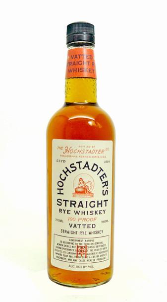 Hochstadter's Straight Vatted Rye Whiskey