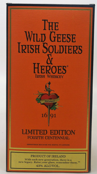 The Wild Geese Irish Soldiers and Heroes, Limited Edition Fourth Centennial Irish Whiskey