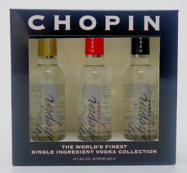 Chopin Vodka 3-Piece Mini Bottle Set