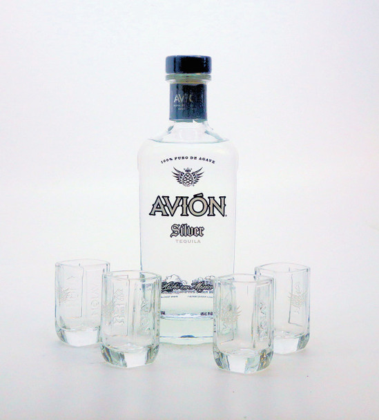Avion Silver Tequila Gift Set