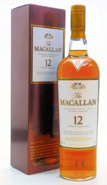 THE MACALLAN SINGLE MALT SCOTCH 12 YEAR