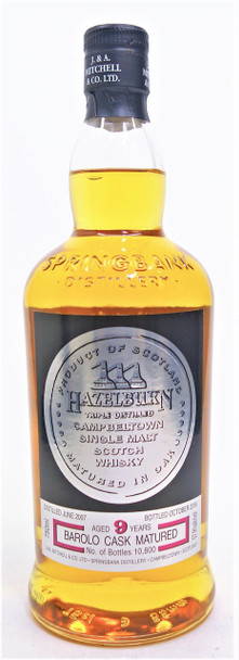 Hazelburn 9 year Single Malt Scotch Whisky