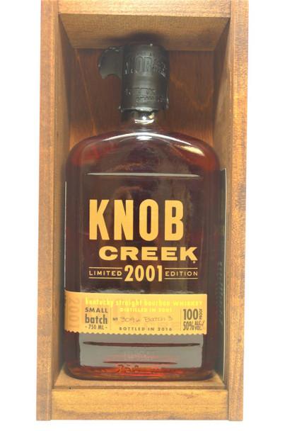 KNOB CREEK BOURBON 2001 LIMITED EDITION BATCH #3
