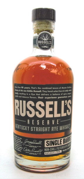 Russell's Reserve Single Barrel Kentucky Straight Rye Whiskey