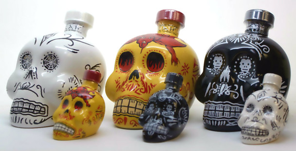 KAH Tequila Halloween Set (Three 750ml and Three 50 ml)