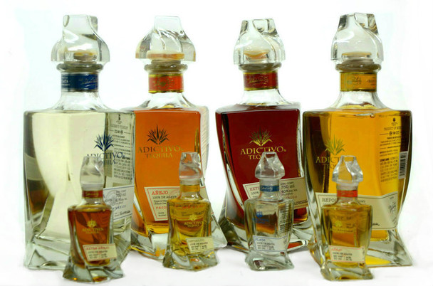 ADICTIVO TEQUILA ULTIMATE COLLECTORS SET (4 X 750ml) AND (4 X 50ml)