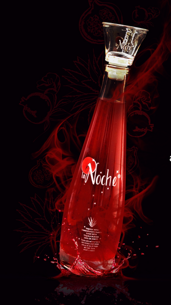 La Noche Tequila infused with Pomegranate