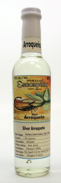 Escorpion Arroqueño Silver Mezcal 375mL
