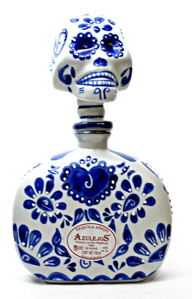 Los Azulejos Anejo Ceramic blue and white Skelly