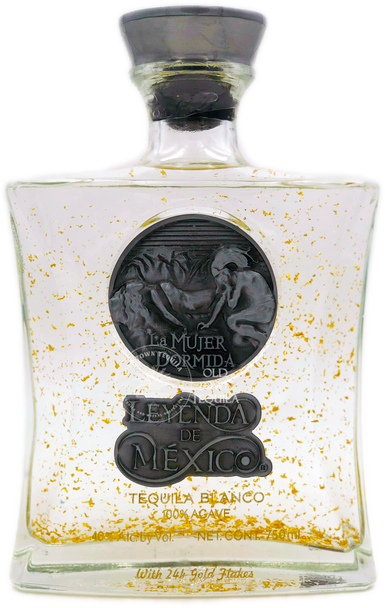 Leyenda De Mexico Blanco Tequila with 24 Gold Flake