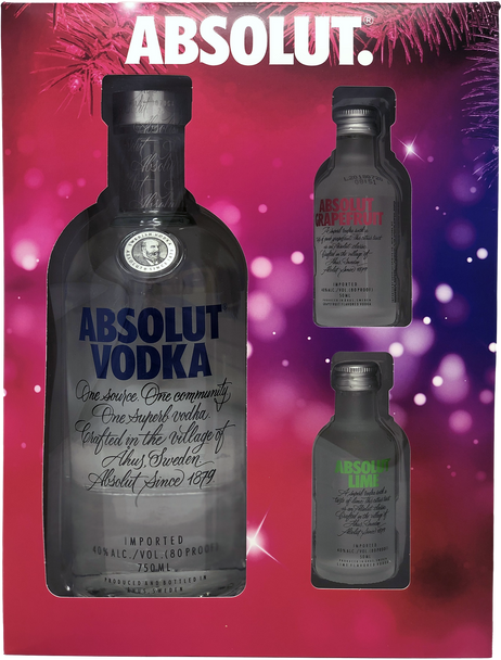 Absolut Vodka Holiday Gift Set