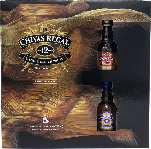 Chivas Regal 12 Year Scotch Limited Edition Gift Set