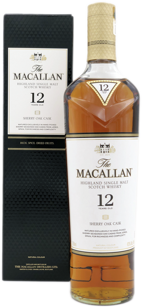 The Macallan 12 Year Sherry Oak Scotch Whisky with box
