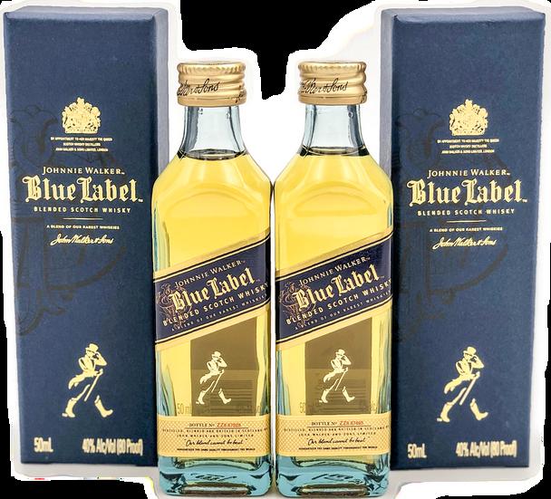 Johnnie Walker Blue Label Scotch Whisky 50ml Mini Bottles Set