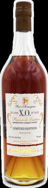 Baron de Lustrac 25 Yr. X.O. Bas Armagnac, Brut de Fut
