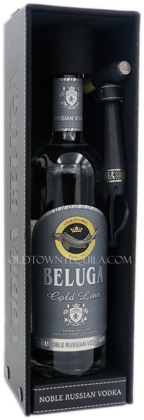 Beluga Gold Line Noble Russian Vodka Leather Box with Hammer