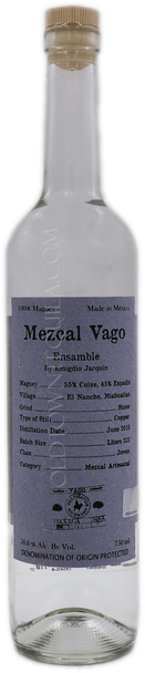 Mezcal Vago Ensamble by Emigdio Jarquin Cuixe and Espadin Joven Mezcal