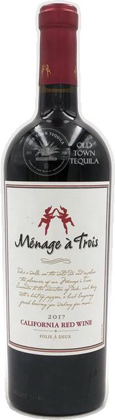 Menage a Trois 2017 California Red Wine Folie A Deux