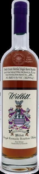 "Willett 6 years ""OldTownTequila.com"" Single Barrel Straight Kentucky Bourbon Whiskey"