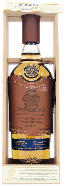 Tres Barricas Anejo Tequila
