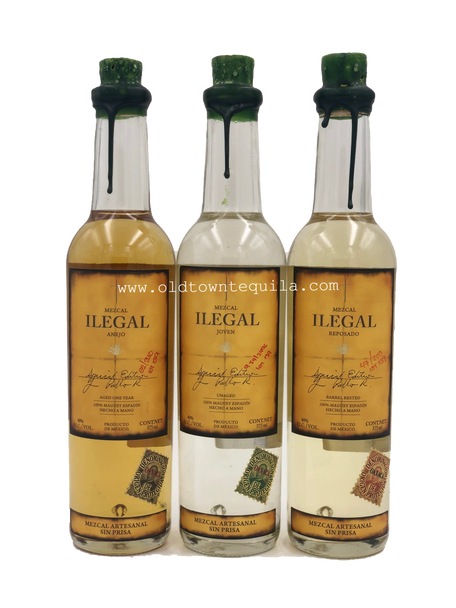 Ilegal Mezcal Set of 3 Bottles 375ml