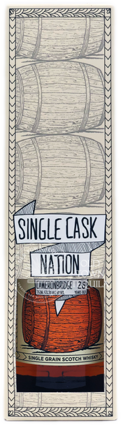 Single Cask Nation Cameronbridge 26 Years Old Single Grain Scotch Whisky 750ml
