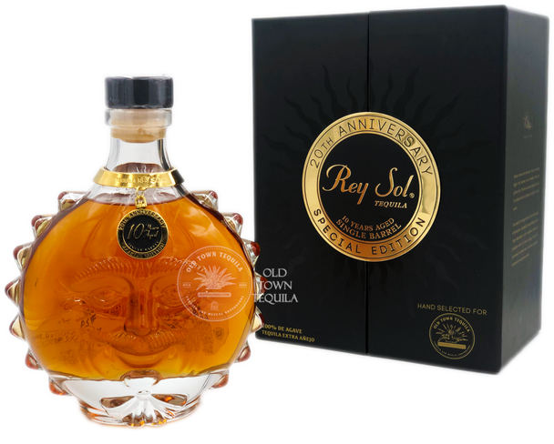 Rey Sol 20th Anniversary 10 Years Aged Old Town Tequila Special Edition Extra Anejo Tequila
