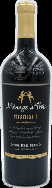 Menage a Trois Midnight Dark Red Blend California 2018