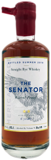 The Senator 6 Years Barrel Proof Straight Rye Whiskey